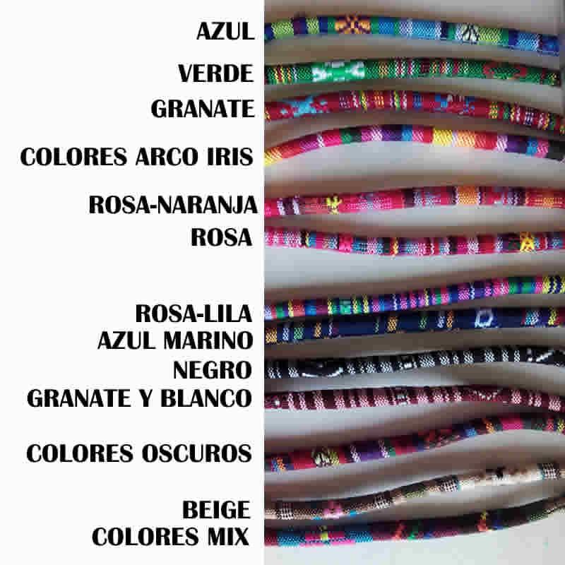 Pulseras de la amistad de colores